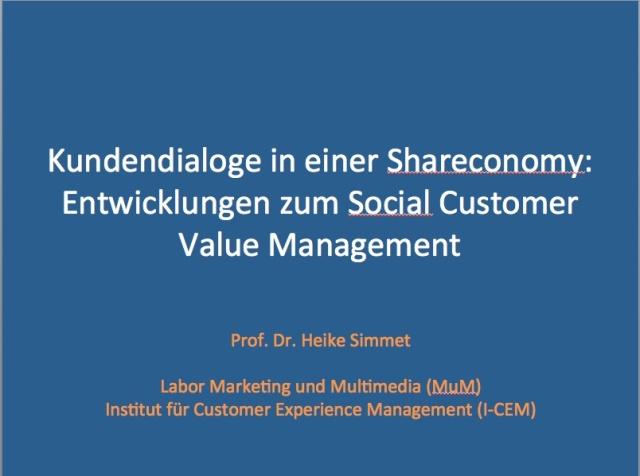 Kundendialoge in einer Shareconomy