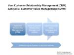 Vom CRM zum Social Customer Value Management