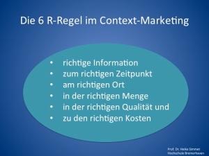 Die 6-R-Regel im Context-Marketing