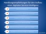 Handlungsempfehlungen für den Aufbau einer digitalen Service-Intelligenz