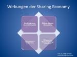 Wirkungen der Sharing Economy