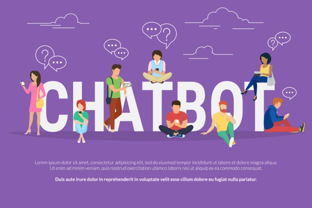 Chatbot concept illustration